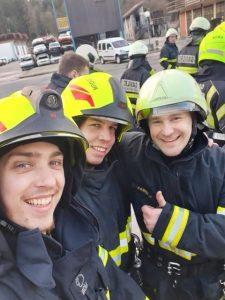 Tečaj za nižjega gasilskega častnika - Tomaž, Bernard, Nejc